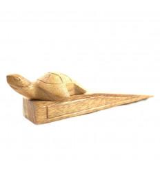 Porta tartaruga di legno grezza intagliata a mano