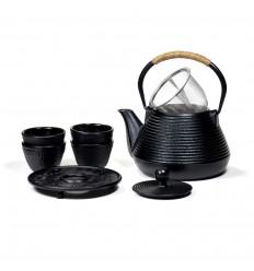 Elegant Japanese-style cast-iron teapot - 1L