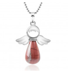 """""""My Guardian Angel"""" necklace in natural red jaspe"""