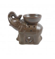 Burning Indian elephant perfume in craft grey ceramic