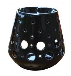 """Brule parfum / Photophore """"Loob"""" en ceramique noire"""
