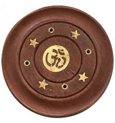 Porta incenso in legno per coni e bastoncini - Motivo Buddha