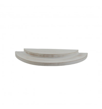 1/2 cerle presentation tray - 2-level jewel display in cerus white wood