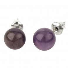 Studs earrings in black Tourmaline and 925 sterling silver