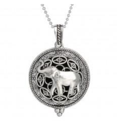 Collier Aromathérapie avec pendentif diffuseur de parfum, motif éléphant