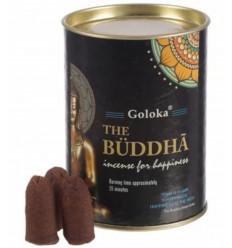 Edit: Box of 24 Incense Cones Backflow Goloka Buddha - Natural Indian Incense