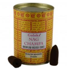 Scatola da 24 coni di incenso Backflow Goloka Nag Champa - Incenso indiano naturale