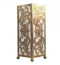 Lampe décorative dorée marocaine forme pentagone en fer forgé 30cm