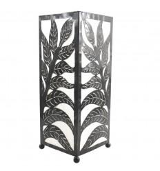 Lampada marocchina in ferro battuto e tessuto bianco H40cm stile orientale