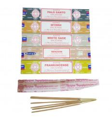 Bouquet di purificazione - Assortimento di incenso SATYA 5 fragranze - lotto di 60 bastoncini