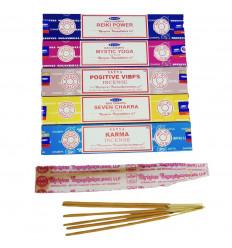 Energy Circulation Bouquet - SATYA incense assortment 5 fragrances - batch of 60 sticks