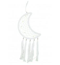 Attrape-rêves forme Lune 52x20cm, décoration à suspendre.