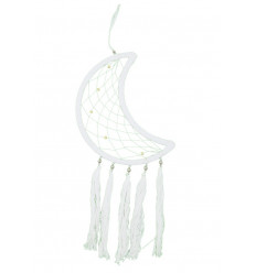 Dream catcher shape Moon 52x20cm, decoration to hang.