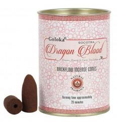 Box of 24 incense cones Backflow Goloka Dragon Blood - Natural Indian Incense