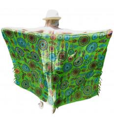 Paréo Vert motif Attrape-rêves Multicolore - 160x110cm
