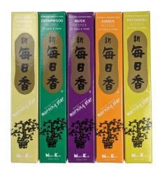 """Bouquet """"TOP 5"""" Morning Star - Assortimento di 250 bastoncini di incenso giapponesi (5 fragranze)"""