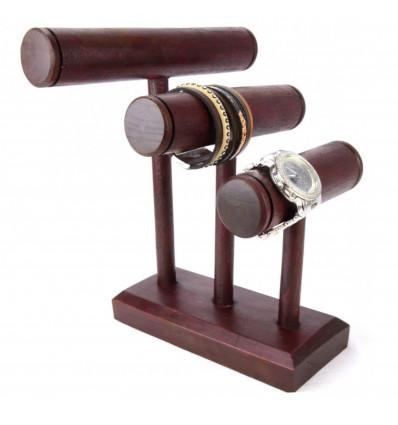 Présentoir rangement bracelet montre original en bois