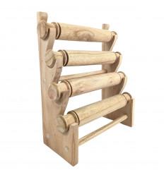 Présentoir bracelets et montres 4 joncs en bois massif brut