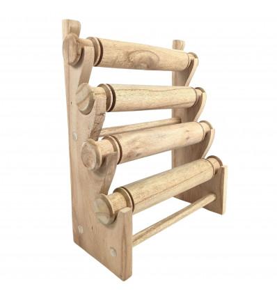 Display bracciali ed orologi di 4 barre in legno massello lordo