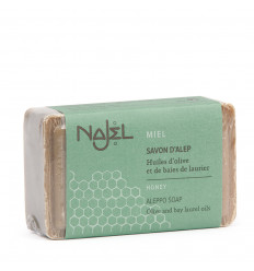 Alep soap with honey for dry skin, nourishing antioxidant.