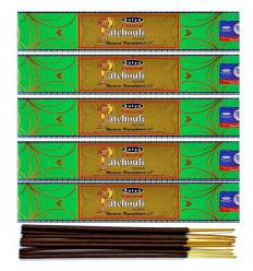 Incenso Naturale Patchouli. Lotto di 60 bastoncini di marca Satya Sai Baba