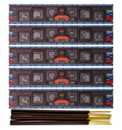 Incense Super Hit by Satya Sai Baba . Lot of 5 boxes of 15g, 60 sticks