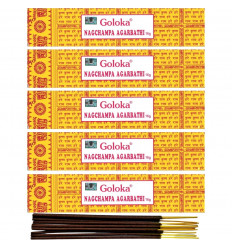 Lot de 5 boîtes 15gr Nag Champa Goloka