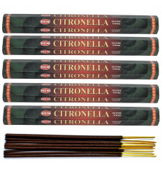 Lot 100 bâtons d'Encens Indien Naturel Citronnelle (Citronnella) HEM