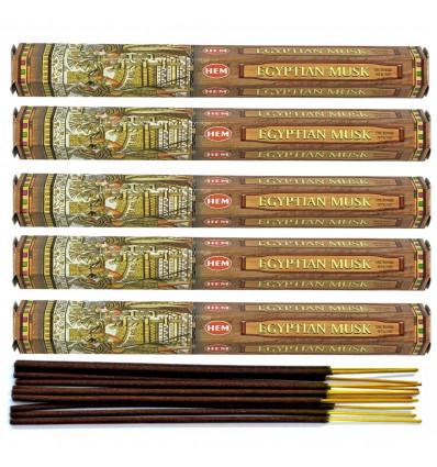 Incenso fragranza di Muschio Egiziano. Lotto di 100 bastoncini marca HEM