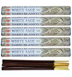 Lot 100 bâtonnets Encens Indien Naturel Sauge Blanche (White Sage) HEM