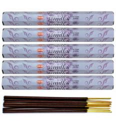 Incense fragrance Vanilla. Lot of 100 sticks brand HEM