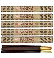 Lot 100 bâtonnets d'Encens Indien Naturel Bois de Santal (Sandalwood) HEM