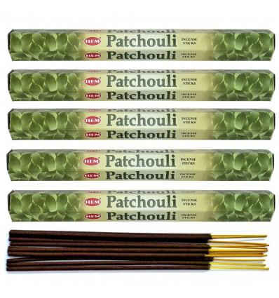 Incenso Patchouli. Lotto di 100 bastoncini Marca HEM