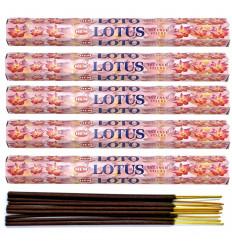 Lot 100 bâtonnets d'Encens Indien Naturel Lotus HEM