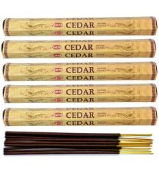 Lot 100 bâtonnets d'Encens Indien Naturel Cèdre (Cedar) HEM