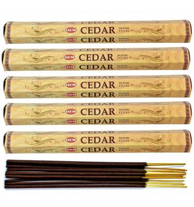 Incenso fragranza di Cedro. Lotto di 100 bastoncini marca HEM