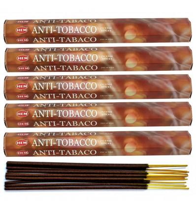Lot 100 bâtonnets d'Encens Indien Naturel Anti-Tabac (Anti-Tobacco) HEM
