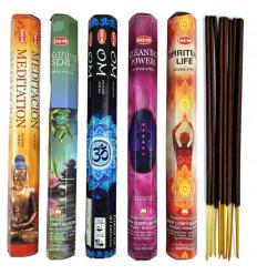 Assortimento di incenso speciale di Yoga, Spiritualità, Meditazione, 5 varietà / 100 bastoncini marca ORLO.
