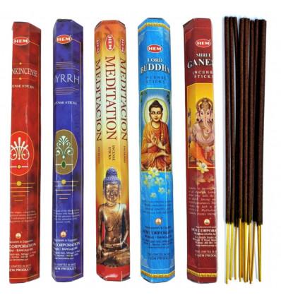 """Assortimento di incenso Profumo - """"Meditazione"""". Lotto di 100 bastoncini (5 profumi) mark ORLO."""