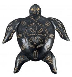 Artisanal wrought iron turtle 35cm. Wall decoration