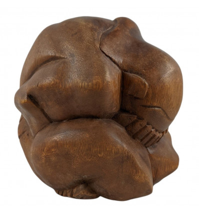 Yogi libérateur en bois massif sculpté main H20cm Grand Modèle.