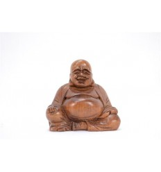 Figurine miniature chinese Buddha solid wood H6,50cm