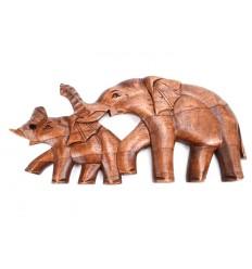 Console murale t te d 39 l phant 30cm en bois sculpt for Decoration murale bois sculpte