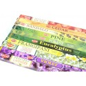 Assortment of incense Bouquet - Woody / Floral 10 perfumes. Lot of 80 sticks brand HEM.