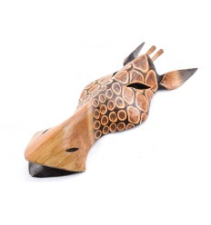 Mask giraffe wood h30cm decoration exotic