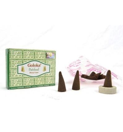 Incenso indiano Goloka Patchouli - lotto 4 scatole da 10 coni
