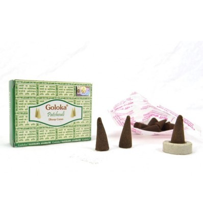 Indian incense Goloka Patchouli - lot 4 boxes of 10 cones