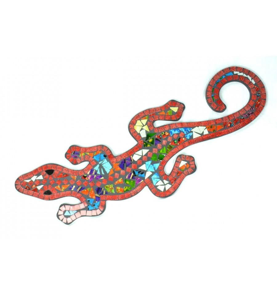 free gecko margouillat salamandre mural cm mosaique de verre rouge multicolore with frise murale. Black Bedroom Furniture Sets. Home Design Ideas